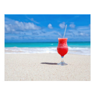 ビーチのフライヤの飲み物 チラシ