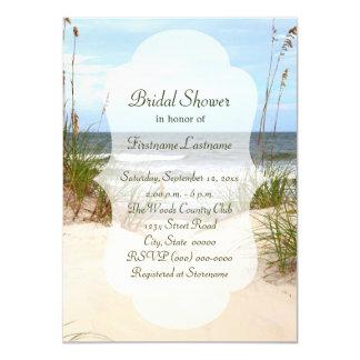 ビーチのブライダルシャワー招待状 カード