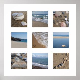 ビーチのプリント ポスター