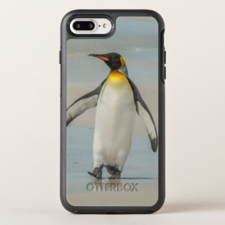 ビーチのペンギンの歩く オッターボックスシンメトリーiPhone 8 PLUS/7 PLUSケース