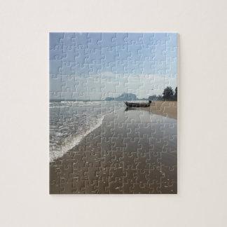 ビーチのボートのパズル ジグソーパズル