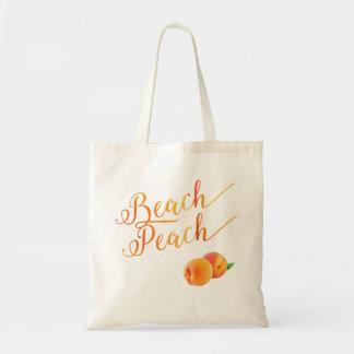 ビーチのモモのトロピカル・フルーツ トートバッグ