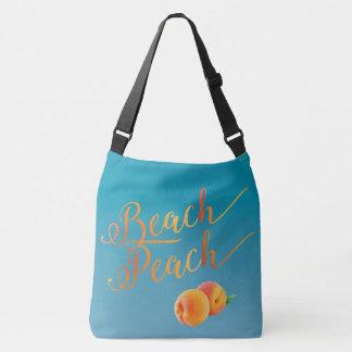 ビーチのモモの海水青い熱帯休暇 クロスボディバッグ