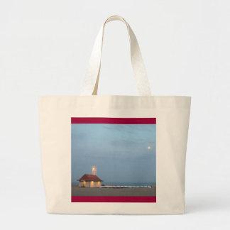 ビーチのライフガードの場所 ラージトートバッグ