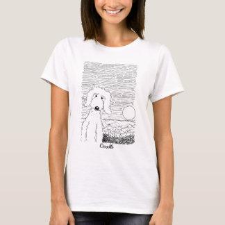 ビーチのワイシャツの金落書き Tシャツ