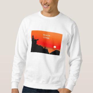 ビーチの中国 スウェットシャツ