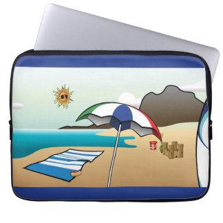 ビーチの休暇の濃紺のラップトップスリーブ ラップトップスリーブ