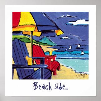 ビーチの側面ポスター ポスター