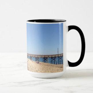 ビーチの写真が付いているコーヒー・マグ マグカップ