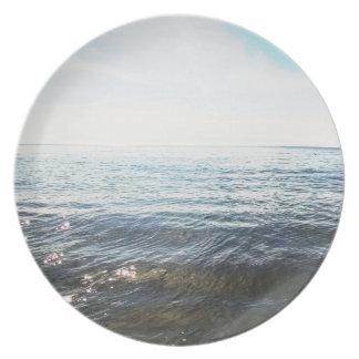 ビーチの写真のプレート2 プレート