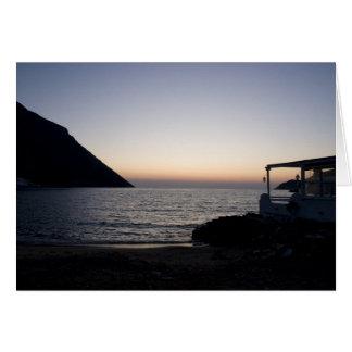 ビーチの写真空白のなカードの日没 カード