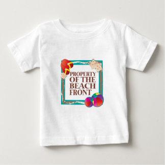 ビーチの前部 ベビーTシャツ