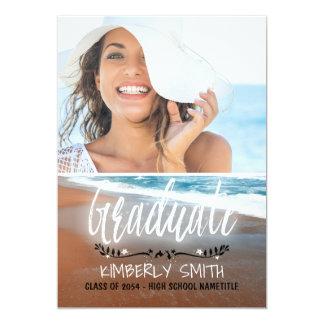 ビーチの卒業パーティーの写真 12.7 X 17.8 インビテーションカード