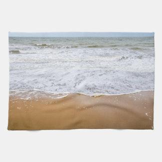 ビーチの台所タオルの波 キッチンタオル