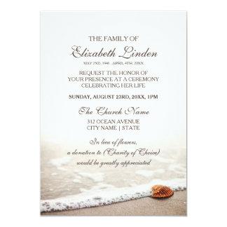 ビーチの告別式の貝殻 カード