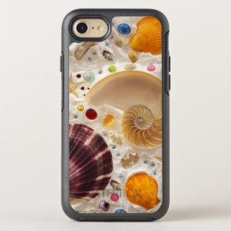 ビーチの夏のTropicslの貝殻 オッターボックスシンメトリーiPhone 8/7 ケース