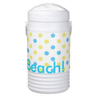 ビーチの夏時間の水の水玉模様に当って下さい ドリンククーラー