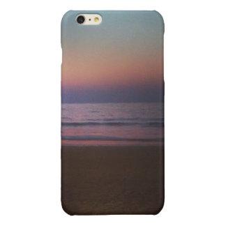 ビーチの夕べ 光沢iPhone 6 PLUSケース
