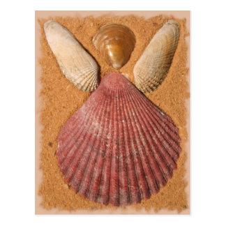 ビーチの天使の郵便はがき ポストカード