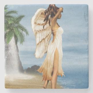 ビーチの天使 ストーンドリンクコースター