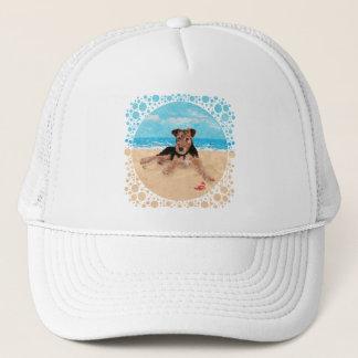 ビーチの子犬 キャップ