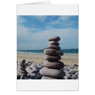 ビーチの小石の彫刻 カード