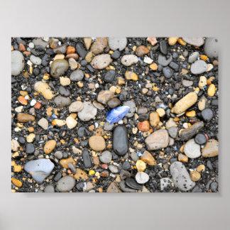 ビーチの小石-キャンバス ポスター