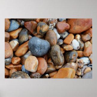 ビーチの小石 ポスター