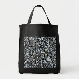 ビーチの小石-食料雑貨のトート トートバッグ