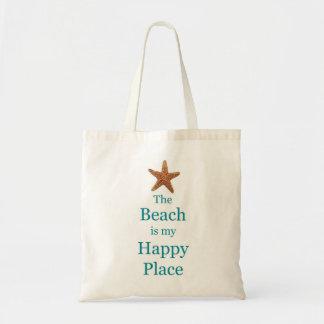 ビーチの幸せな場所のバッグ トートバッグ