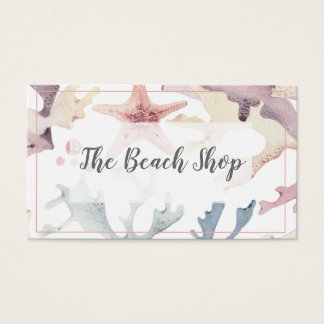 「ビーチの店」の沿岸名刺 名刺