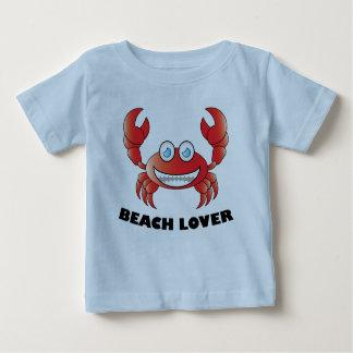 ビーチの恋人-赤ん坊の素晴らしいジャージーのTシャツ ベビーTシャツ
