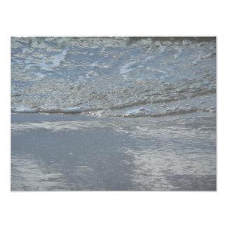 ビーチの抽象芸術の写真撮影の水ラップ フォトプリント