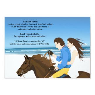 ビーチの招待状の乗馬 カード