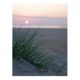 ビーチの日の出 ポストカード