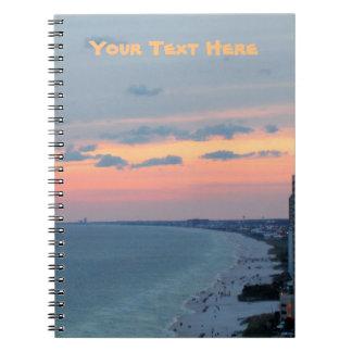 ビーチの日没のノート ノートブック