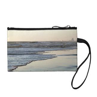 ビーチの日没のOrmondのビーチ コインパース