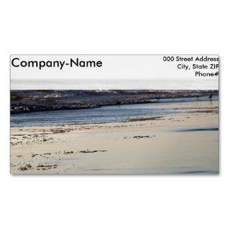 ビーチの日没のOrmondのビーチ マグネット名刺 (25枚パック)