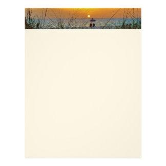 ビーチの日没レターヘッド レターヘッド