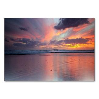 ビーチの日没 カード