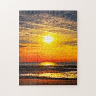 ビーチの日没 ジグソーパズル
