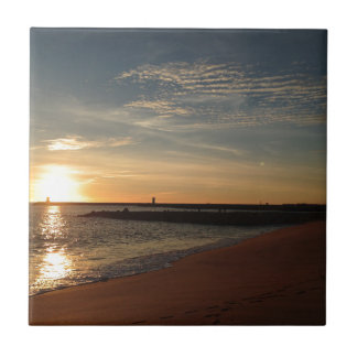 ビーチの日没 タイル