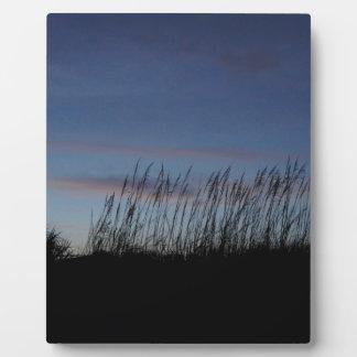 ビーチの日没 フォトプラーク