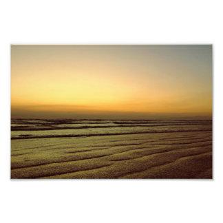 ビーチの日没 フォトプリント