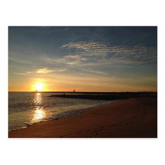 ビーチの日没 ポストカード