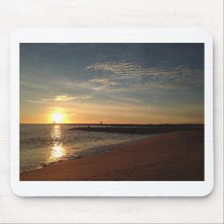 ビーチの日没 マウスパッド
