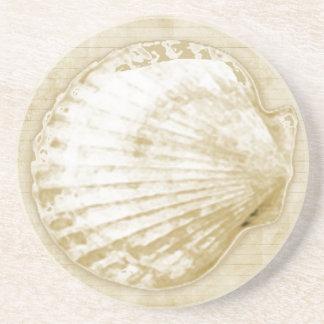 ビーチの日貝殻の海の貝 コースター