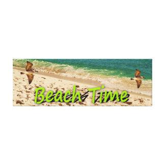ビーチの時間 キャンバスプリント