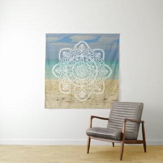 ビーチの曼荼羅のタペストリー タペストリー