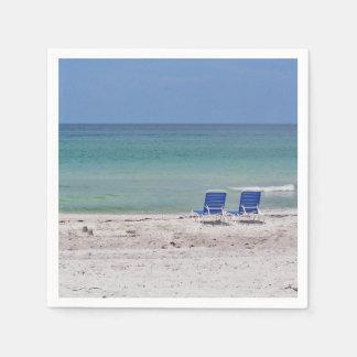 ビーチの椅子 スタンダードカクテルナプキン